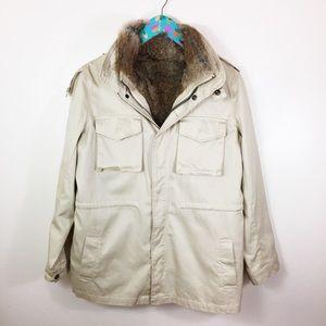 1c76a937a4d7f3 LaRok Detachable Rabbit Fur Vest Luve Jacket